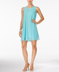Styleandco. Style And Co. Sleeveless Hardware Swing Dress Only At Macy's Icy Blue