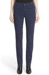 Lafayette 148 New York Women's Print Slim Leg Curvy Fit Twill Jeans