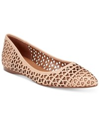 French Sole Fs Ny Quantum Perforated Flats Women's Shoes Natural