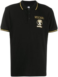 Moschino Logo Printed Polo Shirt 60