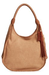 Steve Madden Steven By Faux Leather Hobo Brown Saddle