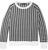 Haider Ackermann Oversized Houndstooth Wool Sweater White