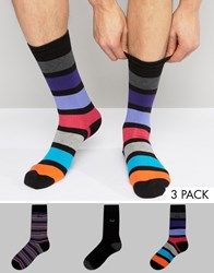 Pringle Socks In 3 Pack With Stripe Multi