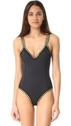 Kiini Chacha Scoop Swimsuit Black Gold