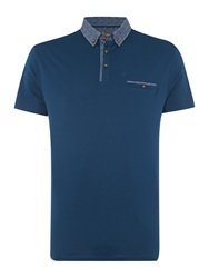 Linea Spencer Polo Neck T Shirt Petrol Blue