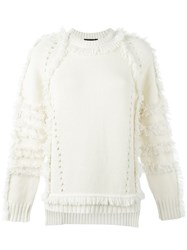 Belstaff Fringed Knitted Blouse Nude And Neutrals