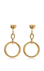 Marni Circular Chain Drop Earrings Gold