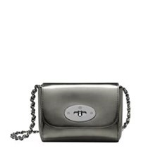 Mulberry Mini Lily Mirror Metallic Shoulder Bag Silver