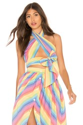 Mds Stripes Everything Scarf Top Multi