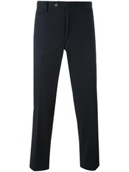 Canali Slim Fit Trousers Blue