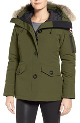 Canada Goose Women's 'Montebello' Slim Fit Down Parka With Genuine Coyote Fur Trim Military Green