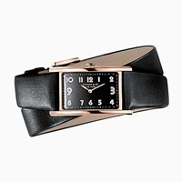 Tiffany And Co. East West 2 Hand 37 Mm X 22 Mm Watch In 18K Rose Gold.
