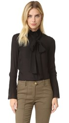Nicholas Fine Pleat Blouse Black