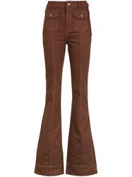 Spacenk Nk Flared Jeans Trousers Brown