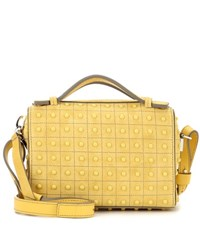 Tod's Micro Bowler Suede Shoulder Bag Yellow