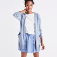 Madewell Summer Ryder Cardigan Sweater In Stripe Heather Ocean