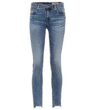 Ag Jeans The Prima Ankle Mid Rise Skinny Blue