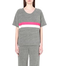 Sundry Jersey Graphic Stripe Top H Grey