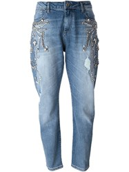 Twin Set Embellished Jeans Blue