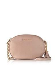 Michael Kors Ginny Fawn Pebble Leather Medium Messenger Pink