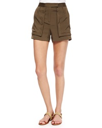 Halston Heritage Shorts W Patch Pockets