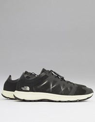 The North Face Litewave Flow Lace Trainers In Black White Black White