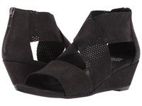 Eileen Fisher Kes 2 Black Tumbled Leather Women's Wedge Shoes