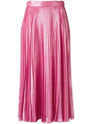 Gucci Pleated Metallic Skirt Pink Purple
