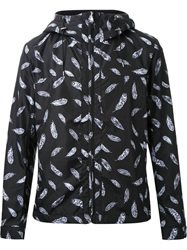 Guild Prime Feather Print Hooded Jacket Black