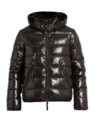 Duvetica Dionisio Hooded Quilted Down Coat Black