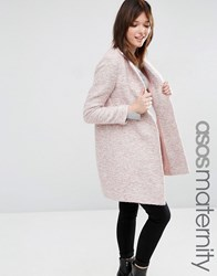 Asos Maternity Slim Coat Blush Pink
