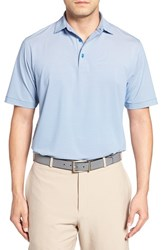 Peter Millar Men's Jubilee Stripe Golf Polo Mediterranean Blue