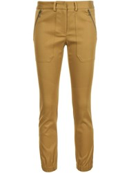 Veronica Beard Zipped Slim Fit Trousers Yellow And Orange