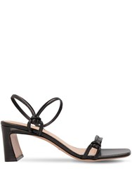 By Far 60Mm Charlie Leather Sandals Black