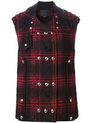 Alexander Wang Double Breasted Waistcoat Red