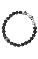 King Baby Studio Men's Lava Rock Bead Bracelet