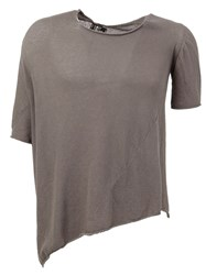 Lost And Found Asymmetric T Shirt Grey