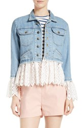 Sea Women's Eyelet Hem Denim Jacket