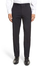 Bonobos Men's Flat Front Solid Stretch Wool Trousers Navy