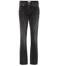 Balenciaga High Rise Cotton Jeans Black