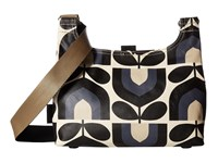 Orla Kiely Matt Laminated Stripe Tulip Print Mini Sling Bag Dusk Sling Handbags Pink