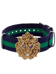 Gabriele Frantzen Navy And Green Lion Candy Bracelet Blue
