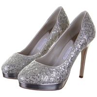 Rainbow Club Seralio Glitter Covered Court Shoes Ivory
