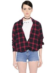 Saint Laurent Oversized Plaid Cotton Shirt