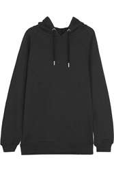 Zoe Karssen Cotton Blend Jersey Hooded Top