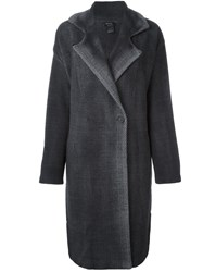 Avant Toi Dyed Herringbone Coat Grey