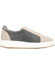 Brunello Cucinelli Panelled Sneakers Nude And Neutrals