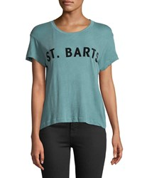 Wildfox Couture St. Barts Cotton Graphic Tee Green