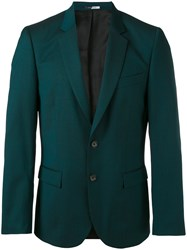 Paul Smith Ps By Classic Blazer Men Viscose Mohair Wool 44 Green