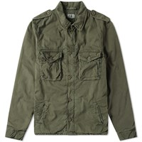Hartford Jonah Military Jacket Green